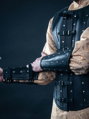 Leather bracers in Renaissance style