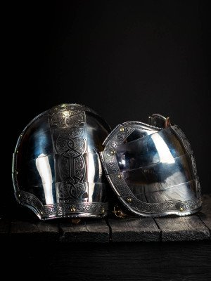 Plate pauldrons, part of full plate armor (garniture) of George Clifford, end of the XVI century