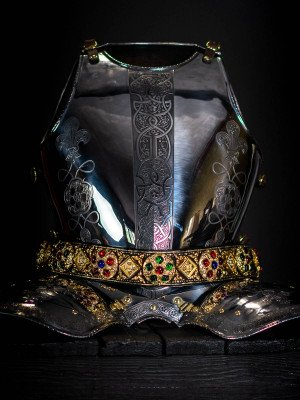 Cuirass, part of full plate armor (garniture) of George Clifford, end of the XVI century