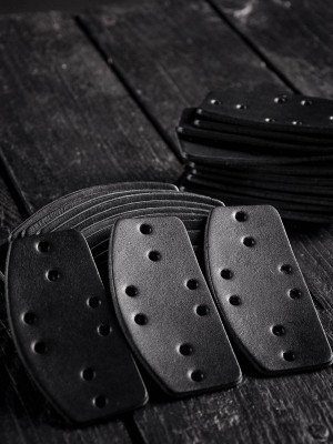 Leather lamellar plates, D-shaped (100 plates in set)