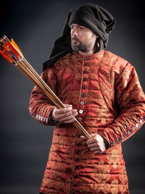 Royal gambeson of patterned fabric Gambesons