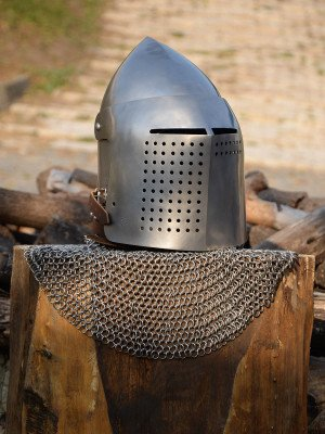 Bascinet for modern fencing (medieval stylization) Plate armor