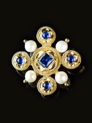 """Brooch from picture of Jean Changenet - """"Three Prophets"""" Brooches and fasteners"""