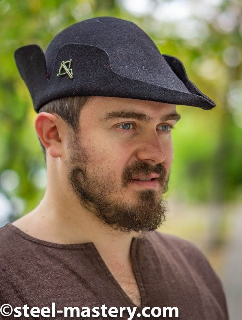 Tyrolean hat with a curly edge Headwear
