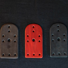Leather lamellar plates, 10 holes (100 pieces in the set) image-1