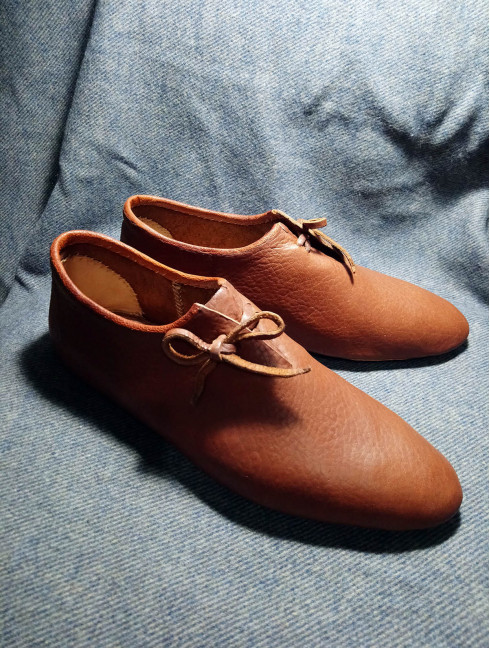Medieval shoes from Bocksten, in stock
