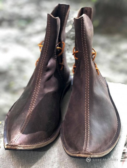 Poulaine medieval style boots, black  Medieval boots