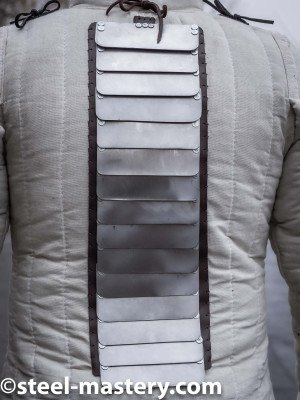 Spine protection for self-sewing