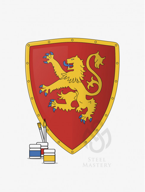 DIY Shield Coloring, Richard I the Lionheart Coat of arms, type 1 Do It Yourself (DIY) Ready sets for self making