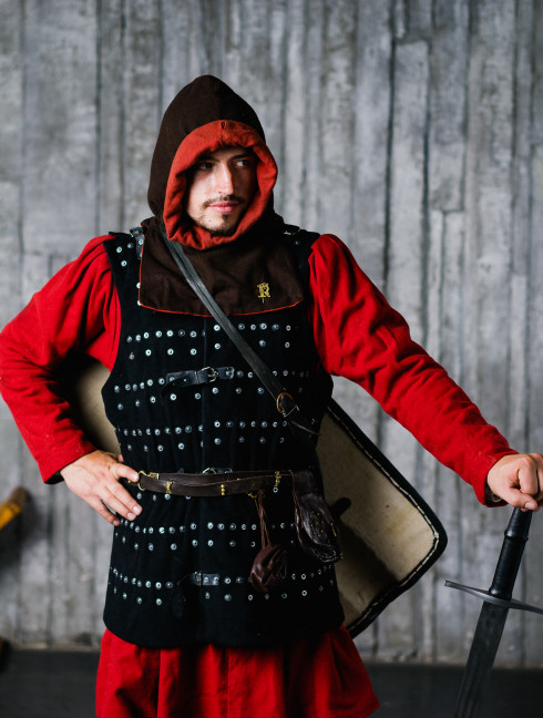 Do It Yourself Middle Ages brigandine with fastenings from the front  Brigandines