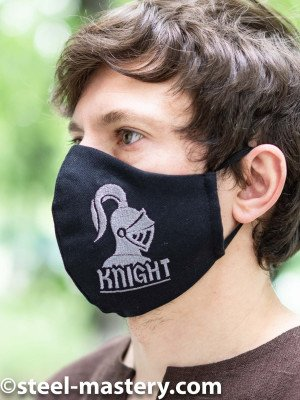 """Decorative face mask with embroidery """"Knight"""" Headwear"""