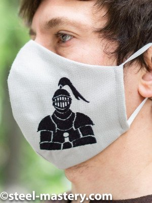 """Decorative face mask with embroidery """"Armor"""" Headwear"""