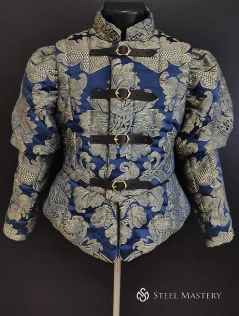Jacquard Renaissance quilted doublet Padded armour