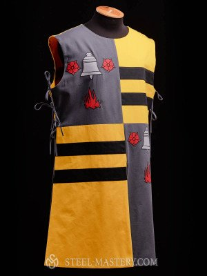 QUARTER COLORED TABARD WITH A BELL