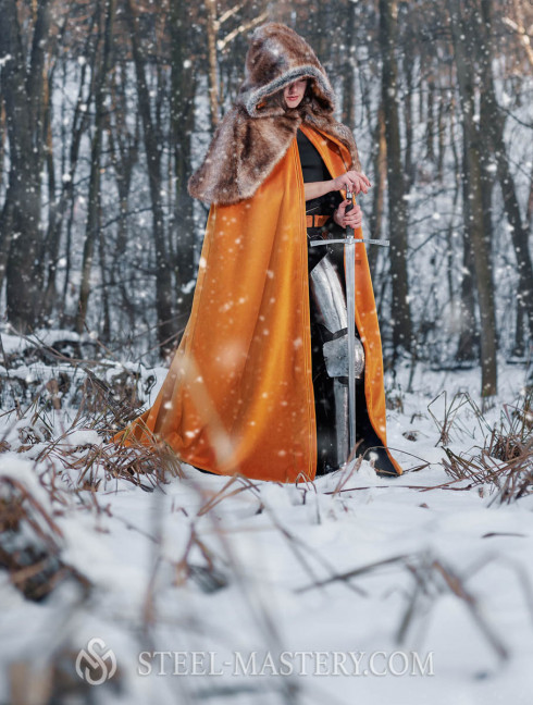 Medieval cloak with shoulder cape  Cloaks and capes