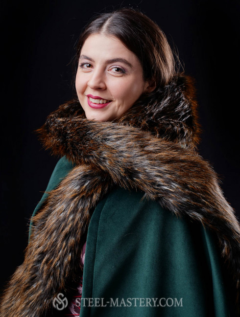 Medieval robe with detachable hood  Cloaks and capes