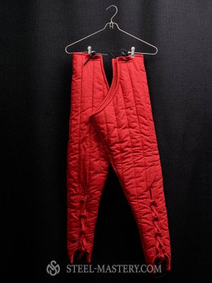 Red padded chausses  Ready padded armour