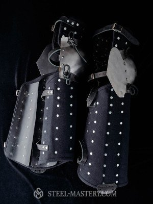 Wool brigandine leg protection 3/4  Ready to ship