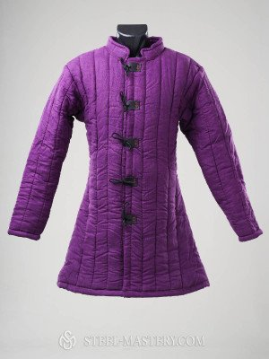 Linen purple gambeson Ready padded armour