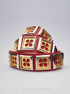 Knight belt of Hugues de Chatelus, late 14th century