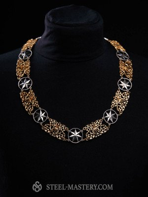 """Medieval necklace """"Butterfly on the Star"""""""