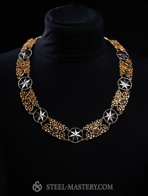 """Medieval necklace """"Butterfly on the Star"""" Old categories"""