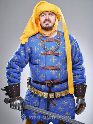 Costume of French knight from Battle of Poitiers, stylization Vecchie categorie