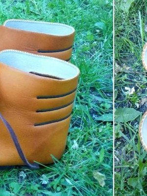 Medieval boots from Old Ladoga, type 2 Old categories