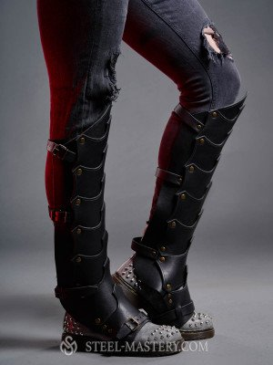 Leather greaves in Dragon style Old categories