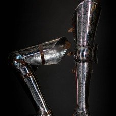 XVI century leg protection with etching - new item!