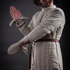 Medieval gambeson with mittens - new photos!