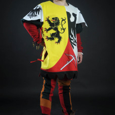 Bright tabard with lion for brave knights!