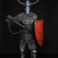 Medieval full armor of the XIII century - perfect battle mix!