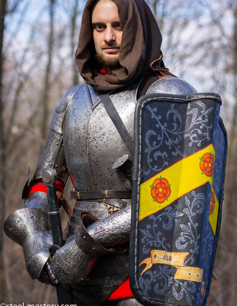 KNIGHT STRAPPED-ON BREASTPLATE OF XIV CENTURY photo made by Steel-mastery.com