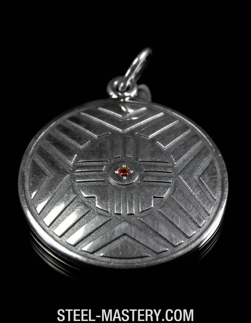 Zircon gemstone pendant photo made by Steel-mastery.com