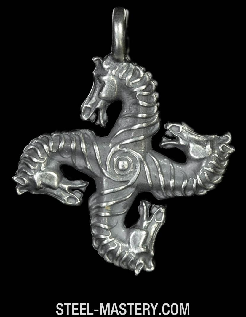 Roman Swastika horse-head photo made by Steel-mastery.com