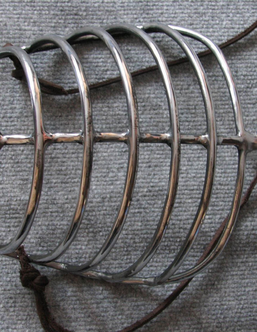 Bascinet with Face Grill photo made by Steel-mastery.com