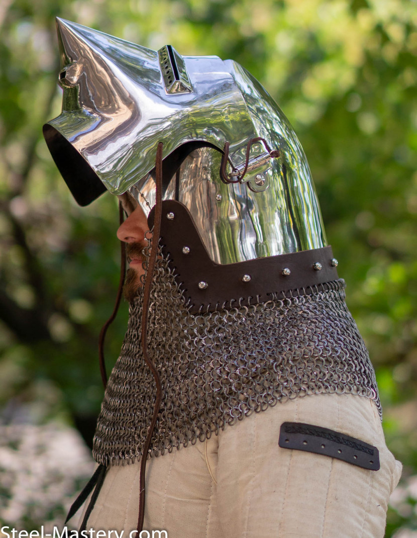 Italian bascinet 1390-1430 photo made by Steel-mastery.com