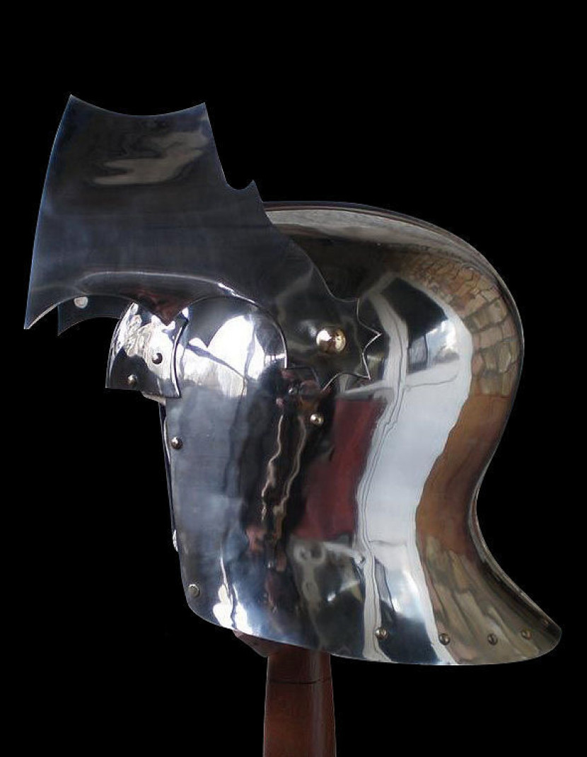 Gothic Sallet with visor - 15ct photo made by Steel-mastery.com