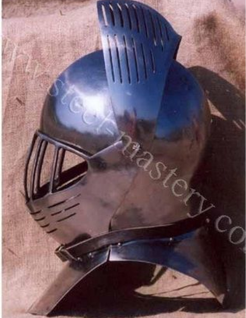 European medieval closed helmet (armet) - 16th century photo made by Steel-mastery.com