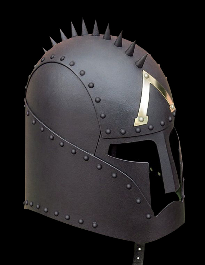 Greek style fantasy helmet photo made by Steel-mastery.com
