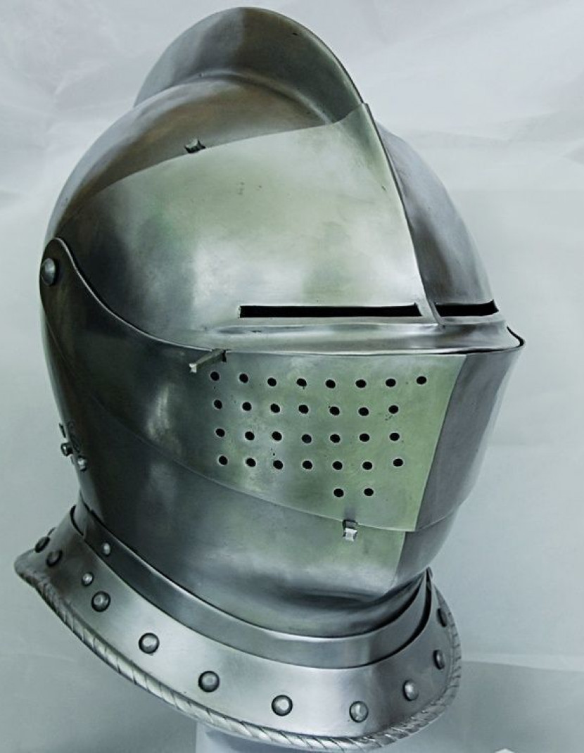 Armet closed helmet 16th century photo made by Steel-mastery.com