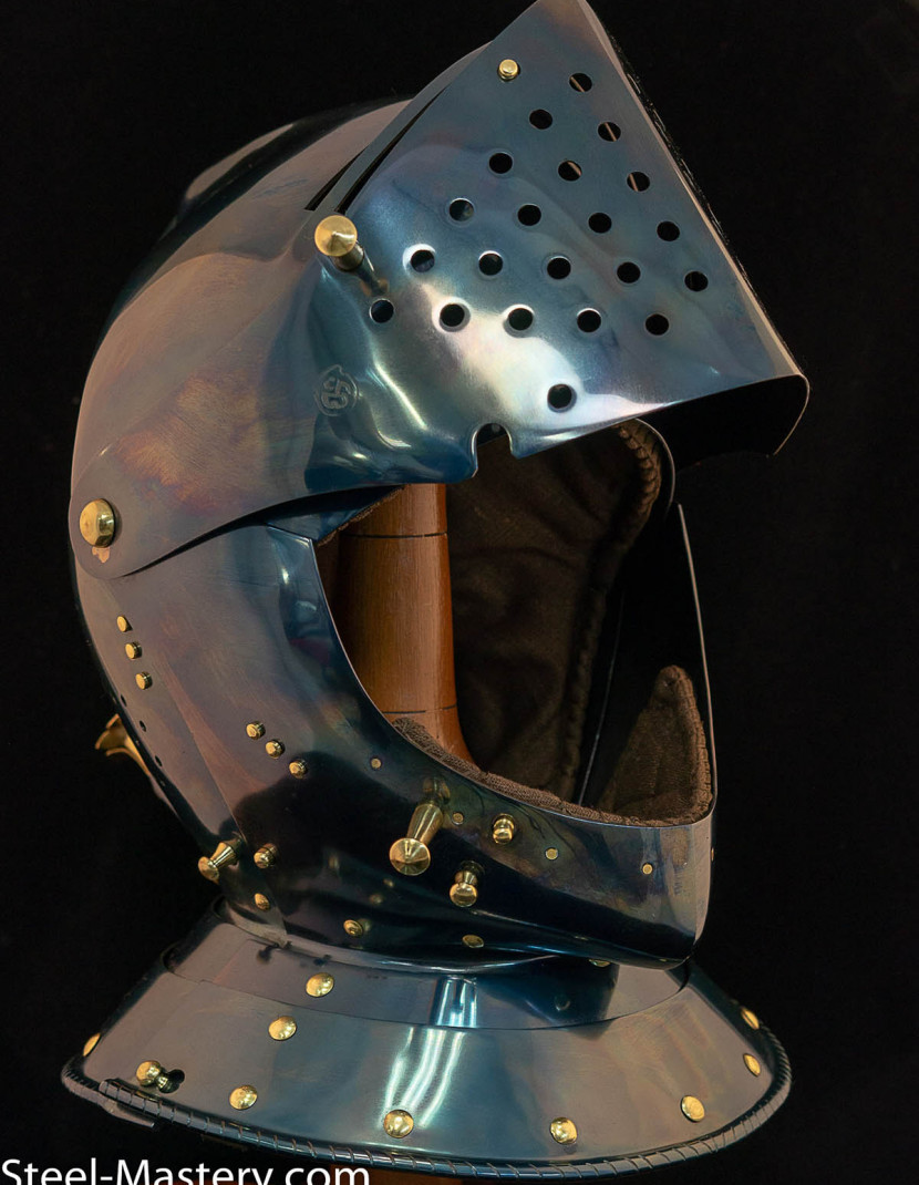 Armet closed helmet 16th century photo made by Steel-mastery.com