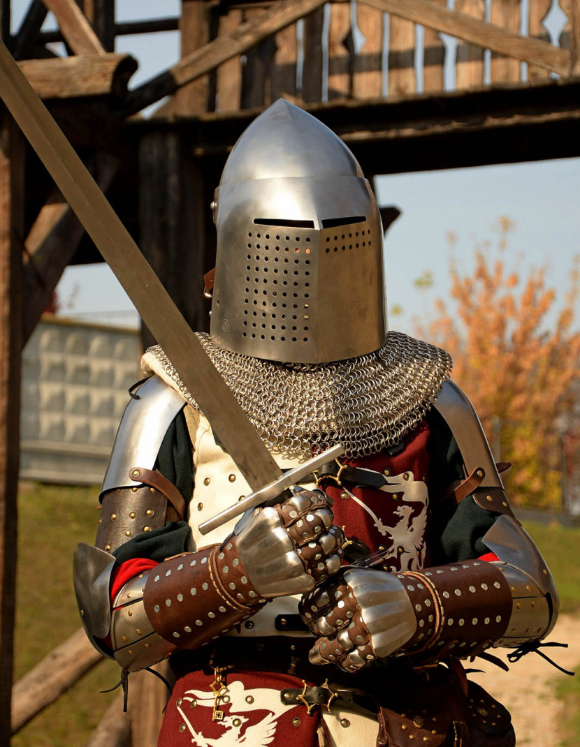 Bascinet for modern fencing (medieval stylization) photo made by Steel-mastery.com