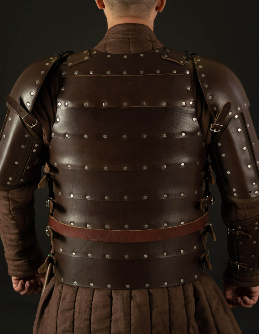 Leather brigantine kit in style of 14th century photo made by Steel-mastery.com