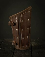 Leather brigandine bracers