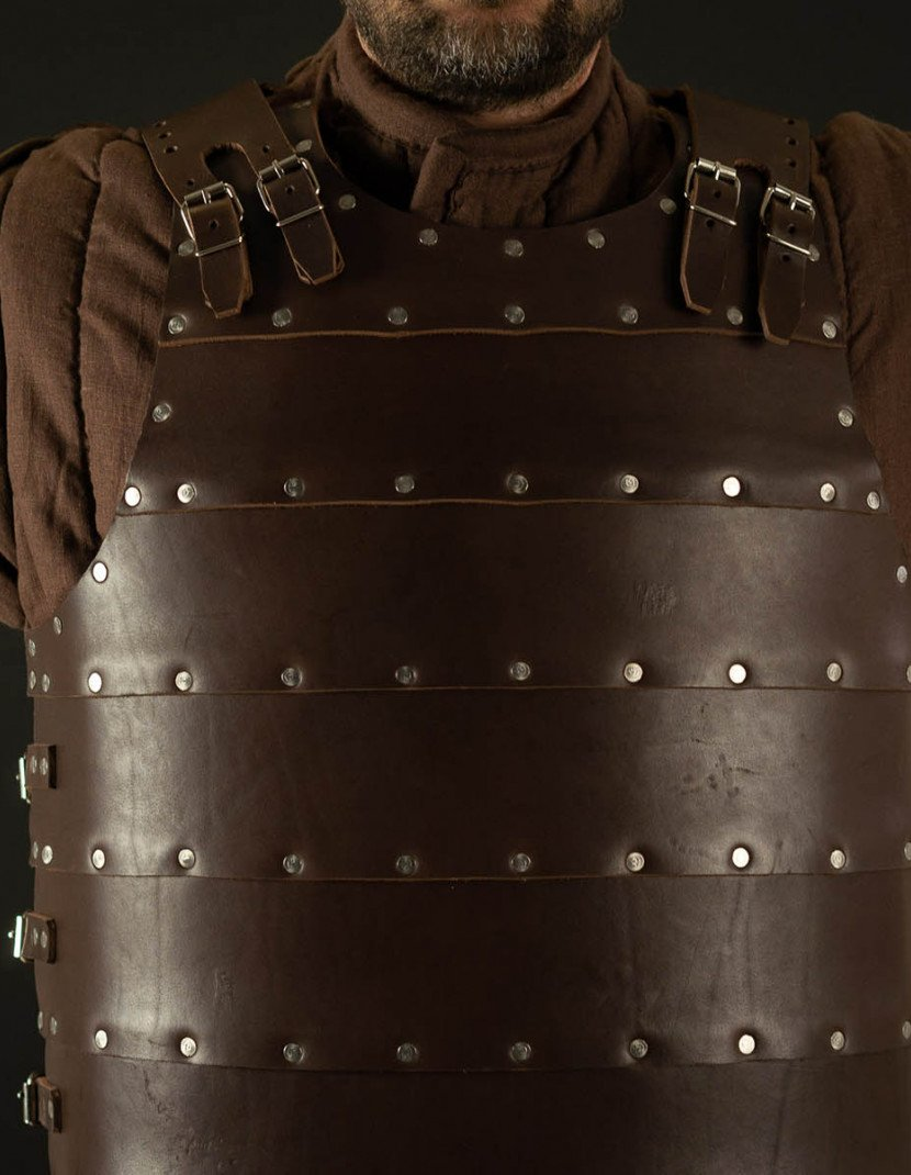 Leather brigandine in style of 14th century photo made by Steel-mastery.com