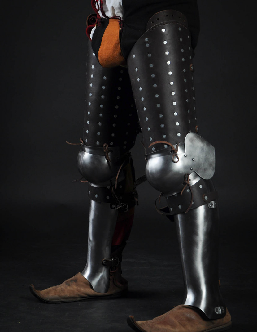 Brigandine leg protection 3/4 photo made by Steel-mastery.com