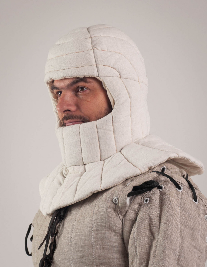 Padded Medieval coif photo made by Steel-mastery.com
