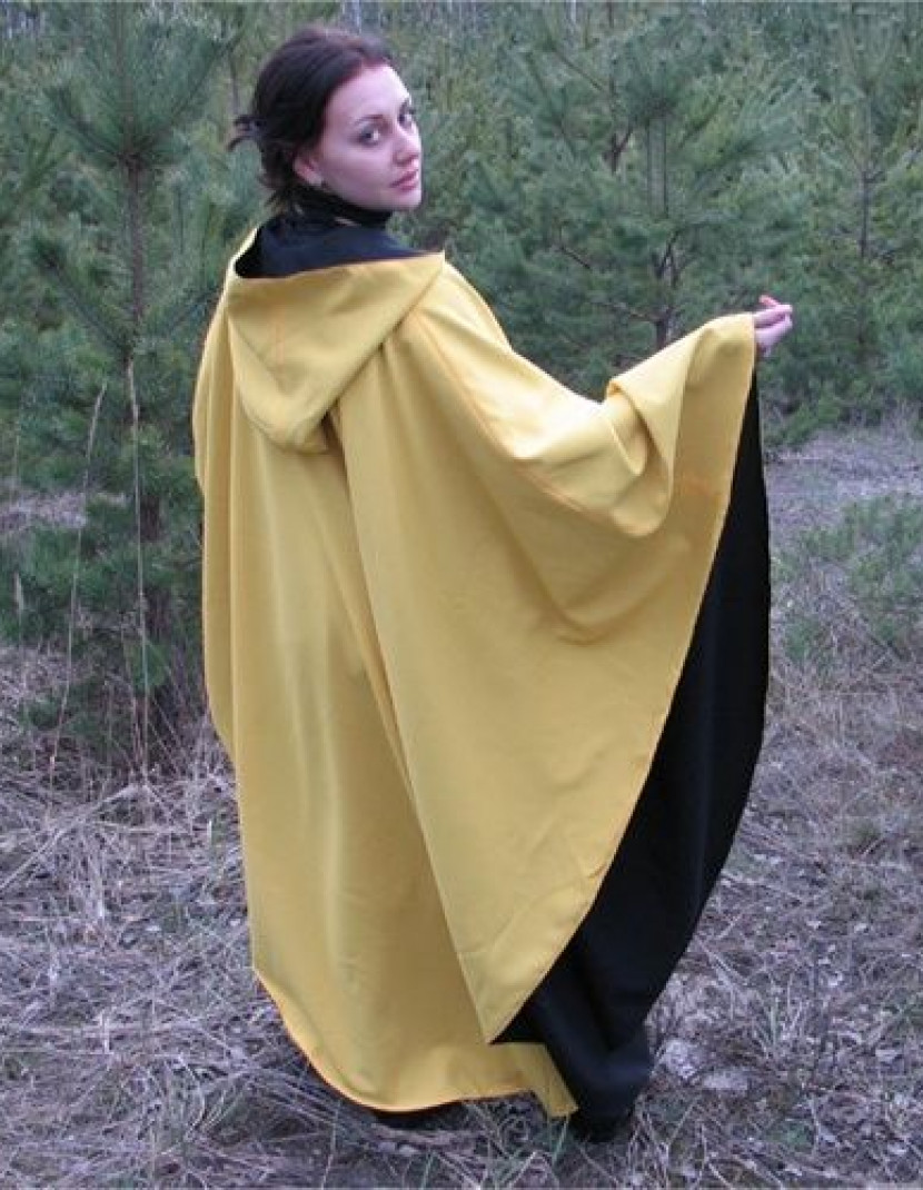Black and yellow cloak with the hood photo made by Steel-mastery.com